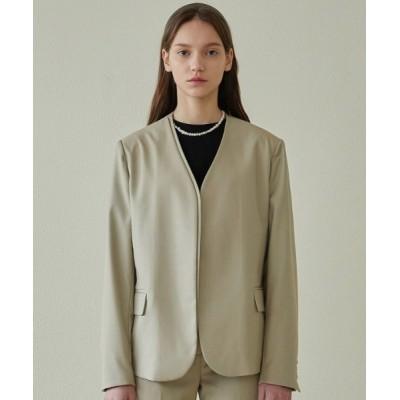 KONVINI / 【ANEDIT 】カラーレスジャケット / E_Collarless Jacket WOMEN ジャケット/アウター > ノーカラージャケット