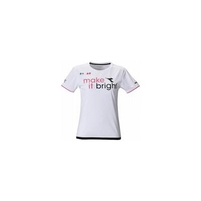 ディアドラ DIADORA W TEAM ロゴ トップ テニス レディースウェア DTP0546-90
