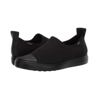 ECCO エコー レディース 女性用 シューズ 靴 スニーカー 運動靴 Soft 7 GTX Slip-On - Black/Black/Black