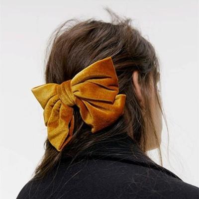 2020新ベルベットビッグ弓のヘアクリップ女性スウィート二層蝶弓ヘアピンガールヘアアクセサリーアクセサリーヘアアクセサリー 髪留め レーディ