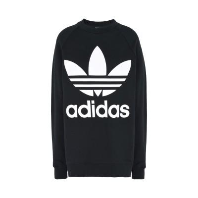 ADIDAS ORIGINALS スウェットシャツ ブラック 30 コットン 100% スウェットシャツ