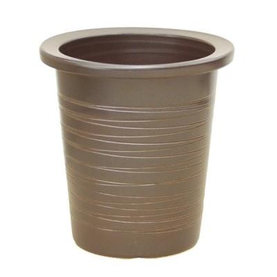 コゲ糸巻県崖 8号 信楽焼 植木鉢 ガーデニング 陶器鉢
