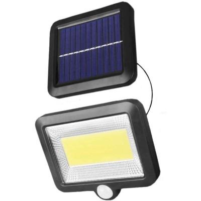 LEDソーラーライト センサーライト 分離型 5mコード付  太陽光発電 夜間自動点灯 IP65防水 玄関/庭/駐車場/ガーデン 防犯ライト 昼白色(1個)(104LED1個)