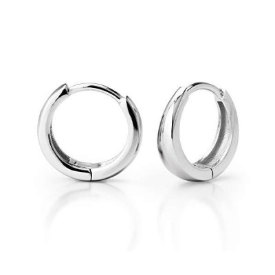 【CONY】ピアス シンプルな フープピアス シルバー925純銀製 リング フープ ピアス レディース メンズ アクセサリー ギフトボックス付き (1