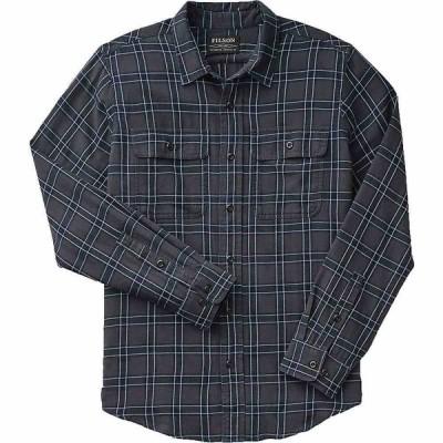 フィルソン Filson メンズ シャツ トップス Washed Scout Shirt Faded Black/Indigo/White Plaid