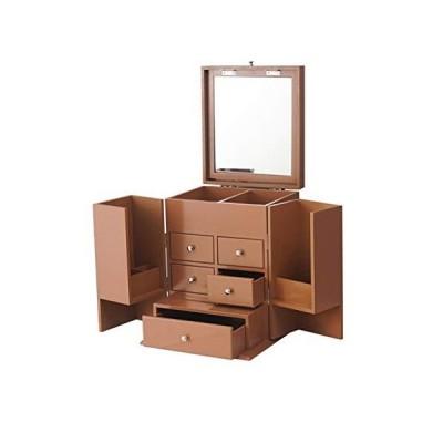 新品Makeup Organizer Makeup Storage Case Cosmetic Box Drawer Dustproof Cosmetic Display Cases Cosmetic Cases Organizer with Mirror Dustpro