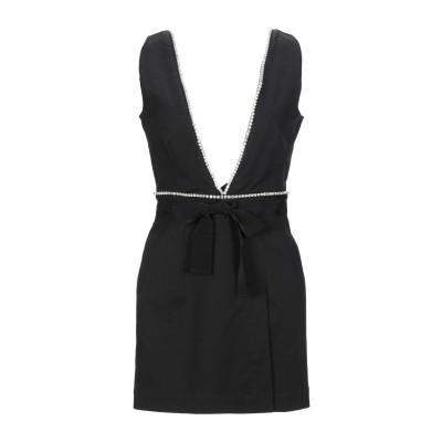 BROGNANO ミニワンピース&ドレス ブラック 38 コットン 95% / ポリウレタン 5% ミニワンピース&ドレス