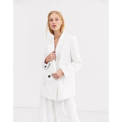 エイソス レディース ジャケット・ブルゾン アウター ASOS DESIGN cream cord suit blazer Cream