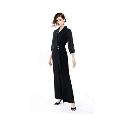 baby-mine パンツ ドレス 結婚式 セットアップ レディース オールインワン フォーマル パーティ−ドレス 体型カバー 大きいサイズ (S)