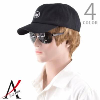 送料無料帽子 メンズ サークルEMB ロゴ 大きいサイズ ローキャップ 黒 ブラック ネイビー ホワイト 白 ベージュ メンズ ファッション