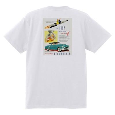 アドバタイジング オールズモビル 658 白 Tシャツ 黒地へ変更可 1952 ゴールデン ロケット 88 98 スーパー ホリデー スターファイア ホットロッド