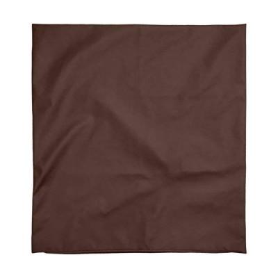 座布団カバー 約59×63cm 八端判 R-24 PU合皮 ポリウレタン合成皮革 フェイクレザー ブラウン 日本製
