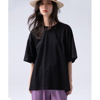 SAISON DE PAPILLON / 【綿100%】ボックスビックTシャツ WOMEN トップス > Tシャツ/カットソー