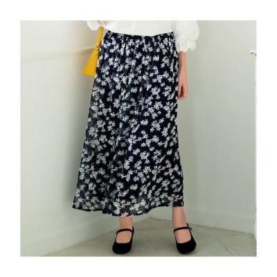 【バーゲン】カットドビープリントスカート 5L 6L|2374-341995