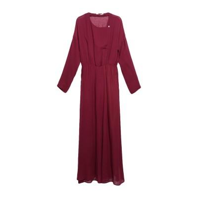 POMANDÈRE ロングワンピース&ドレス ディープパープル 42 レーヨン 75% / バージンウール 25% ロングワンピース&ドレス