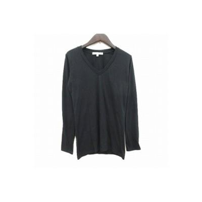 【中古】シェルターオリジナル SHEL'TTER ORIGINAL Tシャツ カットソー 長袖 クルーネック 1 黒 ブラック /CT レディース 【ベクトル 古着】