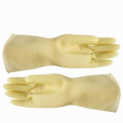 【工業乳膠手套-1雙/包-4包/組】工業乳膠加厚牛筋橡膠洗碗護家務清潔耐酸堿手套-586036