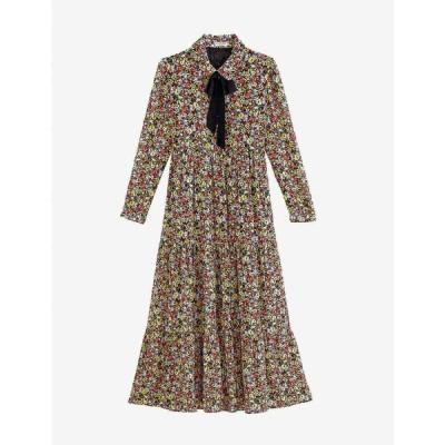 クローディ ピエルロ CLAUDIE PIERLOT レディース ワンピース マキシ丈 ワンピース・ドレス Floral-print crepe maxi dress DARK PRINT
