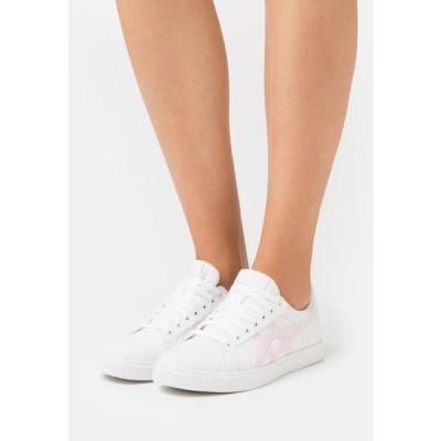 アシックス レディース 靴 シューズ CLASSIC - Trainers - white/pink salt