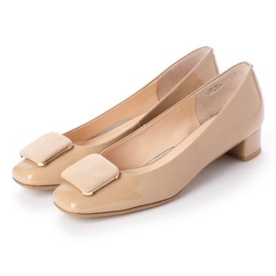 アンタイトル シューズ UNTITLED shoes パンプス (ライトベージュエナメル)
