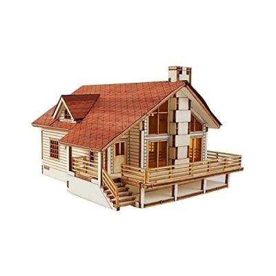 木製模型キット 大きな庭があるガーデンハウスA / YM633