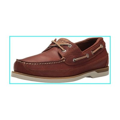 Sperry Mens Mako 2-Eye Boat Shoe, Tan, 8.5