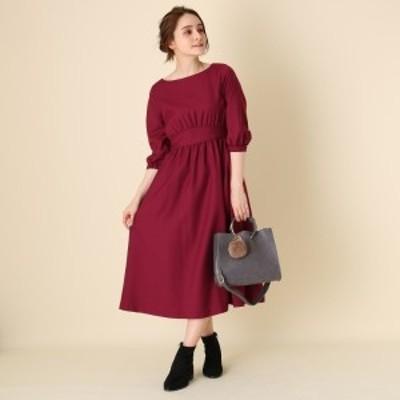 クチュールブローチ(Couture Brooch)/【WEB限定サイズ(LL)あり手洗い可】パフスリーブ切替ワンピース
