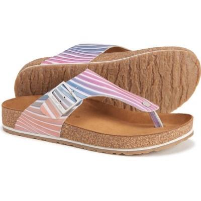 ハフリンガー Haflinger レディース サンダル・ミュール シューズ・靴 Bio Conny Thong Sandals - Leather Pink Vert
