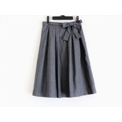 トゥービーシック TO BE CHIC スカート サイズ40 M レディース - グレー ひざ丈【中古】20200910