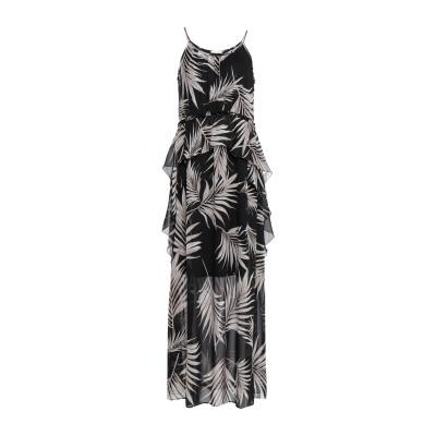I BLUES ロングワンピース&ドレス ブラック 42 レーヨン 100% ロングワンピース&ドレス