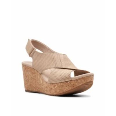 クラークス レディース サンダル シューズ Collection Women's Annadel Parker Wedge Sandals Sand Suede