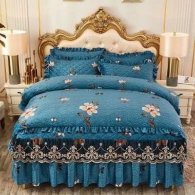 高級ワイドダブル ベッド用品4点セット 寝具 ボックスシーツ.枕カバー掛け布団カバー ベッドカバー 別サイズあり