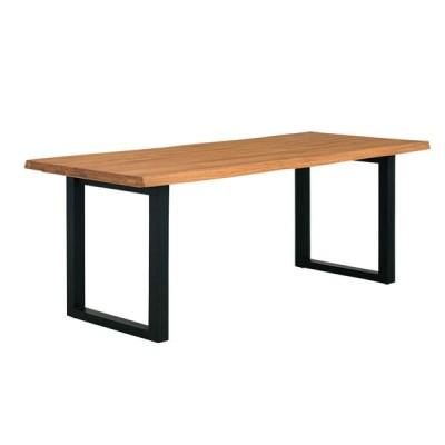 脚幅4段階調節可能 ダイニングテーブル ダイニング ミーティングテーブル 作業台 ワークデスク 185cm幅 テーブル単品 Madras(マドラス) 幅185cm オーク