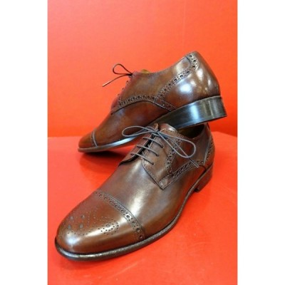 イル・カンパゴ ILCAMPAGO ストレートチップシューズ ブラウン イタリア製 メンズ靴