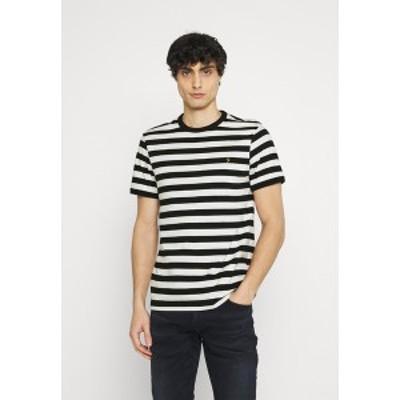 ファーラー メンズ Tシャツ トップス BELGROVE STRIPE - Print T-shirt - ecru ecru