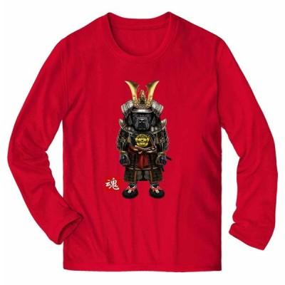 【黒毛 ラブラドルレトリバー ドッグ 犬 いぬ 侍 将軍 日本 JAPAN】メンズ 長袖 Tシャツ by Fox Republic