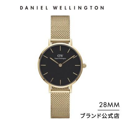 ダニエルウェリントン DW レディース 腕時計 Petite Evergold YG Black 28mm メッシュ ベルト クラシック ぺティート ブラック