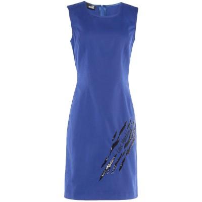 ラブ モスキーノ LOVE MOSCHINO ミニワンピース&ドレス ブルー 40 コットン 100% / ポリエステル ミニワンピース&ドレス