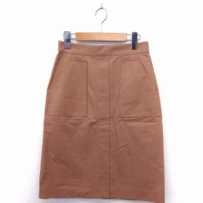 【中古】プロポーション ボディドレッシング PROPORTION BODY DRESSING スカート タイト ひざ丈 無地 綿 3 茶 /FT5