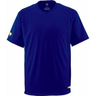 デサント ヤキュウソフト ジュニアV首Tシャツ 19FW ロイヤル Tシャツ(jdb202-roy)