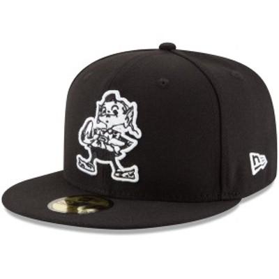 ニューエラ メンズ 帽子 アクセサリー Cleveland Browns New Era BDub 59FIFTY Fitted Hat Black