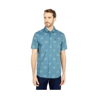 Volcom ヴォルコム メンズ 男性用 ファッション ボタンシャツ Inner Valley Short Sleeve Button-Up - Rincon Blue