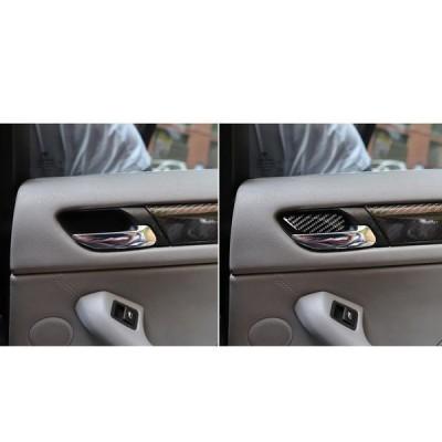 BMW3E46用4pcs5dカーボンファイバーカードアハンドルボウルステッカーの売れ筋