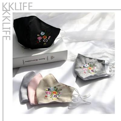 マスク 10枚セット 刺繍 コットン 綿 男女兼用 男性用 女性用 夏用 冬用 個別包装 通気性 洗える 個性的 可愛い 飛沫防止 花粉対策 洗濯可能 おしゃれ キレイめ