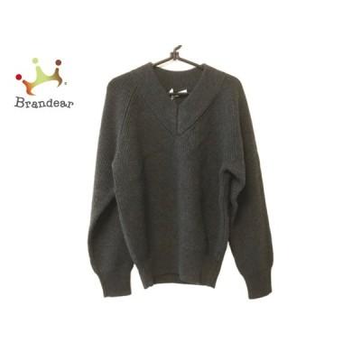 スローン SLOANE 長袖セーター サイズ2 M レディース 美品 ダークグレー  値下げ 20210209