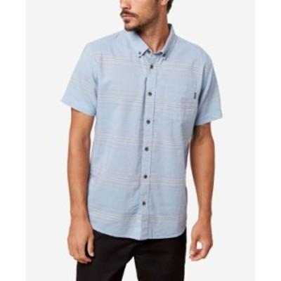 オニール メンズ シャツ トップス Men's Crestmont Button-Up Shirt Blue Shaddow