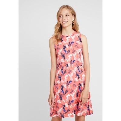 エスプリ ワンピース レディース トップス EASY DRESS - Jersey dress - coral