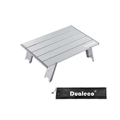 Dualeco ウトドアテーブル ミニローテーブル アルミ製 キャンプテーブル 折りたたみ式 コンパクト 超軽量 ロール