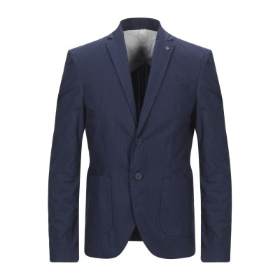 BICOLORE® テーラードジャケット ブルー 48 コットン 80% / ポリエステル 18% / ポリウレタン 2% テーラードジャケット