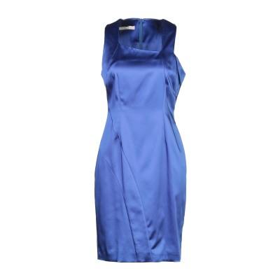 X'S MILANO ミニワンピース&ドレス ブルー 46 シルク 97% / ポリウレタン 3% ミニワンピース&ドレス